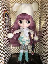 "Ooak Custom 12"" Blythe Doll ~ Miss Snow Bunny ~ With Outfit!"