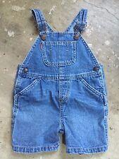 euc LEVI'S denim BLUE jean OVERALL shorts size 18 months