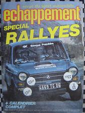 revue ECHAPPEMENT 1979 SIMCA RALLYE 3 SRT + R5 ALPINE GR.2 + A 112 ABARTH COUPE