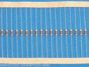 100 Carbon Film Resistors 1,3 Mohm / 0,25 W/ 5%