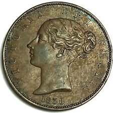 More details for 1838 half penny a.unc collectable grade ref:e87