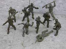 Used LIDO 54mm Scale (10) WWII US Army  Infantry Soldiers Lot 1308K