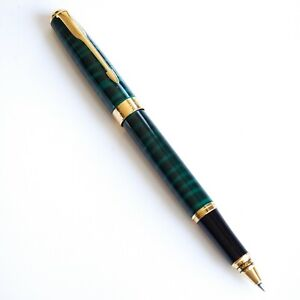 BAOER #388 Green Marble Rollerball Pen Gold Trim 0.7mm Black Blue Ink - UK!