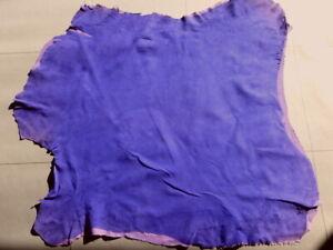 Lambskin sheepskin hide skin Violet Purple Suede glove soft Stretch leather