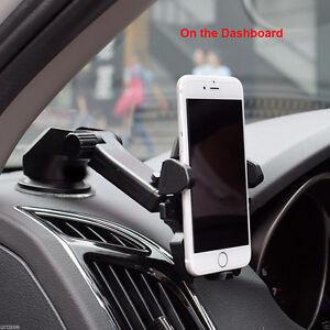 360° Car Holder Windshield Mount Bracket For iPhone Samsung Mobile Cell Phone