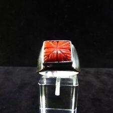 Ring Gr. 59 Silber 925 mit Koralle