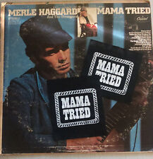mama tried -sew on   patch!, merle haggard, outlaw country, biker patch