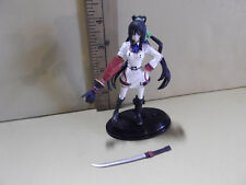 """#B242 Unknown Anime 4""""in Black Hair Girl w/Robot Looking Arm & Sword"""