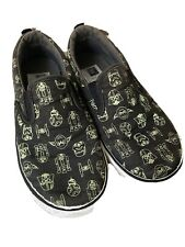 Gap Star Wars boy slip on canvas Shoes sz 12 Us 11 Uk black green 29 Eur yoda