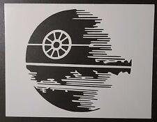 "Star Wars Death Star 11"" x 8.5"" Custom Stencil FAST FREE SHIPPING"