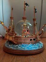 "Disney Peter Pan Pirate Ship Musical Snow Globe ""You Can Fly"""