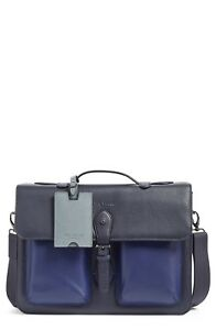 Ted Baker London Quint Leather Satchel Navy RRP: £391
