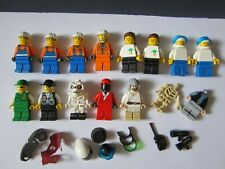 LOT 15 MINI FIGURINE FIGURE LEGO CITY STAR WARS COURSE NINJAGO ACCESSOIRE VRAC