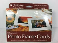 Strathmore #105-185 Photo Frame Cards - White W/Die Cut Window (New) -Free Ship