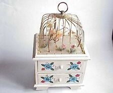 VERY Vintage Bird Cage Music Box Jewelry Box. Apco Japan.
