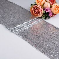 Glitter Sequin Table Runner Cloth Cover Sparkly Wedding Party Adorn Shiny Bling