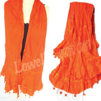 Scarf high quality cotton  COTTON VOILE SCARF POM POM FRIENGE