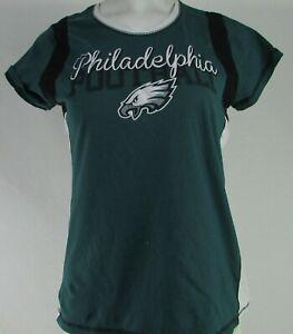 Philadelphia Eagles NFL Majestic Women's Green Short Sleeve Tee