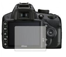 3 X Transparente Protectores De Pantalla Para Nikon D3200 Digital Slr-Accesorio de cámara