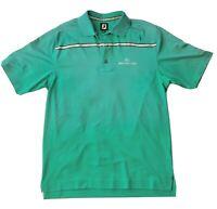 FootJoy Golf Polo Shirt Tour Logo Desert Highlands Lime Green Men's Size Medium