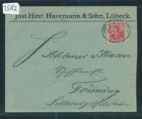 35182) Bahnpost Ovalstempel  Hamburg - Rostock ZUG 30, Brf Lübeck 1900