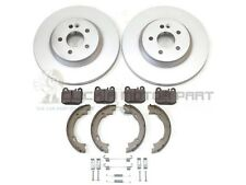 MERCEDES ML270 CDi ML350 REAR 2 BRAKE DISCS AND PADS + SHOES + FITTING KIT