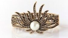 "Heidi Daus ""Sublime Star"" Crystal-Accented Bangle Bracelet (M/L)"