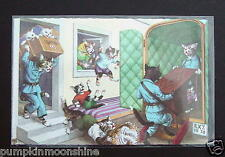 #H17- Vintage Unused Alfred Mainzer Postcard Cats Moving Furniture into Truck