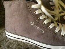 Guess New G Women High Top Ankle Bootie / Court Shoe Size 8 / Gray White & Black