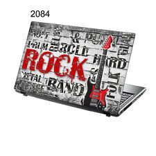 "TaylorHe 15.6"" Laptop Vinyl Skin Sticker Decal  Red Music Rock Guitar 2084"