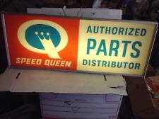 Vintage Speed  Queen Authorize Parts Distributor Electric Sign.