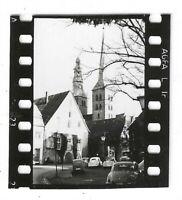 Foto, Lemgo, NRW, Nikolaikirche, alte  Autos, Straße, 1932, Kleinbild: 4 x 3, cm