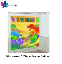 Dinosaur Party Scene Setter Kit Poster Wall Decoration Birthday Jungle Safari