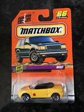 "Matchbox Street Cruisers Yellow ""MGF"" Convertible Die Cast Car NIB"