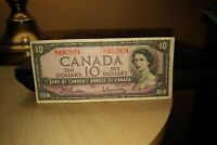 1954 $10 Dollar Bank of Canada Banknote RT4567874