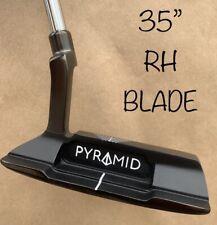"PYRAMID PUTTERS BLADE AZ-1 35"" BLAIR O'NEAL PUTTER GOLF MILLED GROOVE GRIP RH"