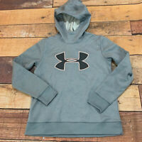 Under Armour Hoodie Sweatshirt Womens Size Small Logo Loose Cold Gear NEW D123