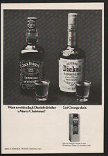 1969 JACK DANIELS versus GEORGE DICKEL Whisky - Let George do it - VINTAGE AD