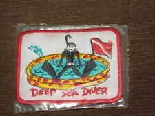 VINTAGE DEEP SEA DIVER CLOTH PATCH NEW UNUSED IN PLASTIC