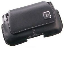 BlackBerry Black Leather Pouch Case+ Swivel Clip for Blackberry Storm 9500 9530