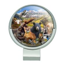 Colorado Mountains Lake Wildlife Animal Golf Hat Clip With Magnetic Ball Marker