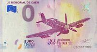 BILLET 0  EURO  LE MEMORIAL DE CAEN  FRANCE 2018  NUMERO 1000