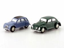 """Schuco Piccolo set citroen 2 CV/VW Escarabajo """"casa de la historia"""" # 50151000"""