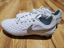 Nike Tiempo Legend 8 Pro Fg Soccer Cleats White Silver At6133-100 Size 5.5