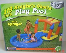 Knight'S Castle Play Pool Center Inflatable Water sprayer Vinyl Ages 3+ Summer