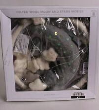 Pottery Barn Kids Felted Moon & Stars baby mobile, nursery decor, gray ivory