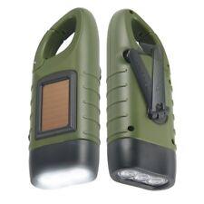SIMPEAK 2 x Hand Crank Solar Powered Recharge LED Flashlight For Hiking Camping