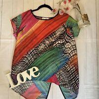 Joseph Ribkoff Size 18 bright colourful smock thin t shirt summer holiday VGC