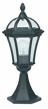 Endon Drayton outdoor post IP44 60W Textured black paint & clear glass