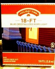 Holiday time rope lights ebay holiday time 18 ft blue crystallized rope light aloadofball Gallery
